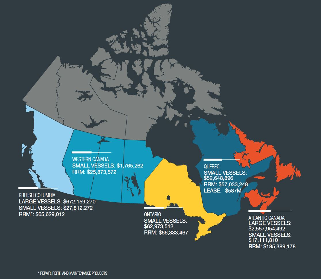 Canada Industry Map Generating economic benefits for Canada   National Shipbuilding