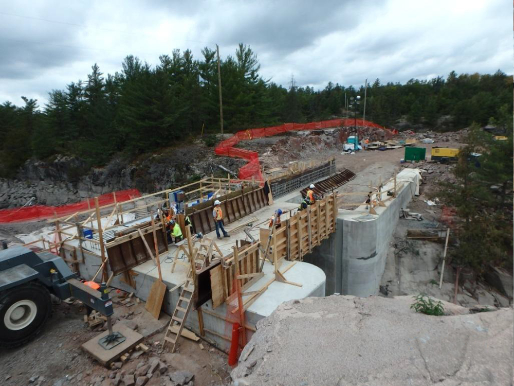 View image of the construction of the new Big Chaudière Dam