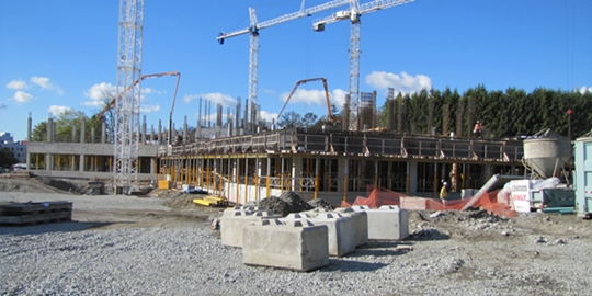 Construction of the new RCMP E Division Headquarters-October 15, 2010