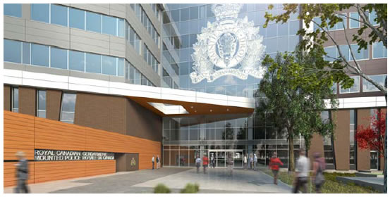View enlarged image of the RCMP E Division Headquarters facility entrance