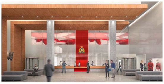 View enlarged image of the RCMP E Division Headquarters facility lobby