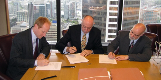 Signing of the project agreement