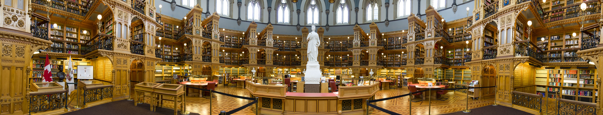 View enlarged image of the Library's statue of Queen Victoria