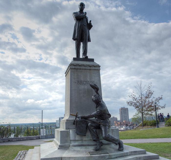 View enlarged image of the George Brown statue