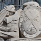 Sculpture displayed on the exterior facade of the Sir John A. Macdonald Building. (Click to view enlarged image.)