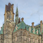The West Block is one of the three Parliament Hill buildings that form a national historic site, along with the East Block and Centre Block. (Click to view enlarged image.)