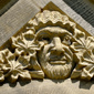 A carving that was incorporated into the Gothic Revival architectural style of the Centre Block. (Click to view enlarged image.)
