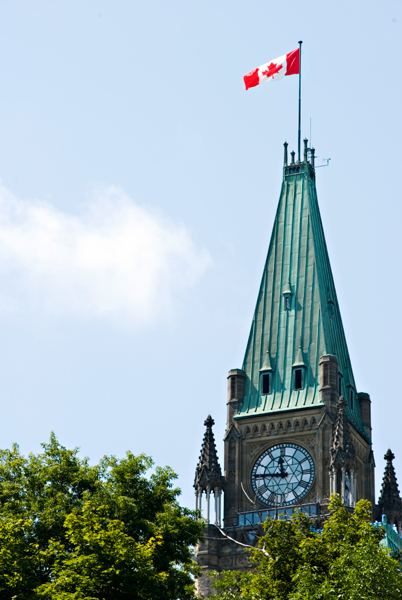 View enlarged image of the Parliament Hill's Centre Block Peace Tower