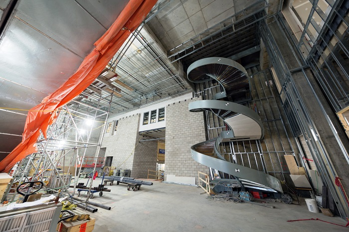 View enlarged image of the Wellington Building atrium during construction