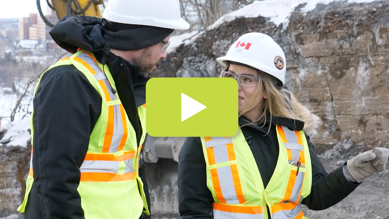 View the video: Women working on the Centre Block project